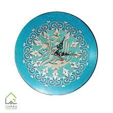ساعت دیواری چوبی معرق کاری شده با طرح بسم الله الرحمن الرحیم