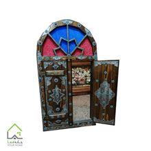 قاب آینه سنتی کلون دار چوبی
