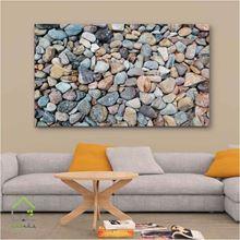 تصویر تابلو دیواری طرح سنگ های رنگی