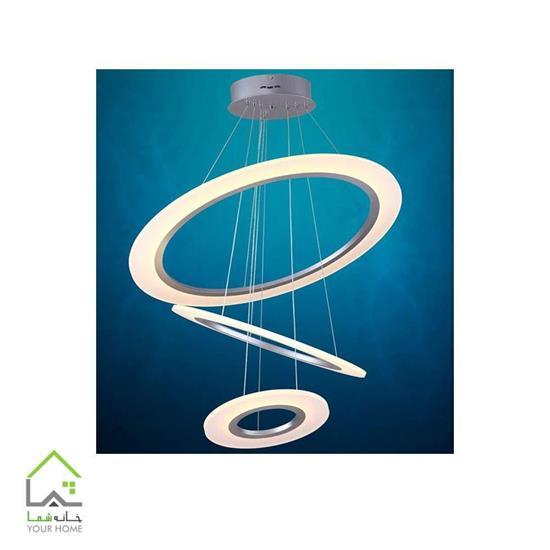 تصویر لوسترسقفی مدرن رینگی ماد 3 طبقه ابعاد 405060