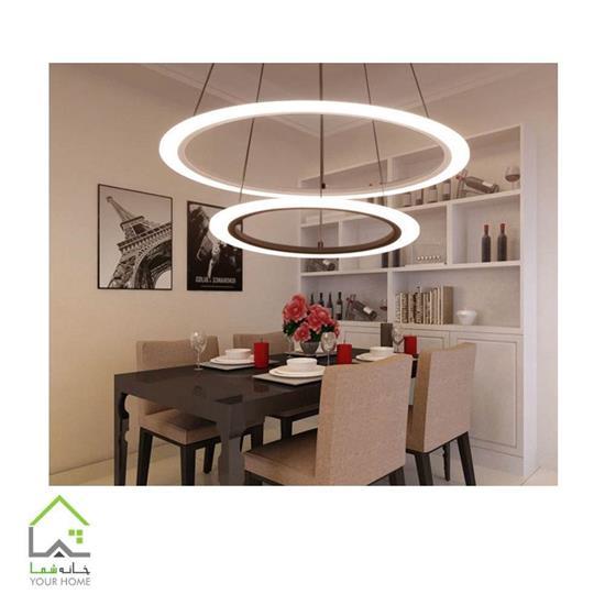 تصویر لوسترسقفی مدرن رینگی ماد دو طبقه قطر 4060