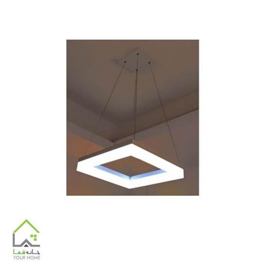 تصویر لوسترسقفی مدرن مربع ماد تک طبقه ابعاد 60