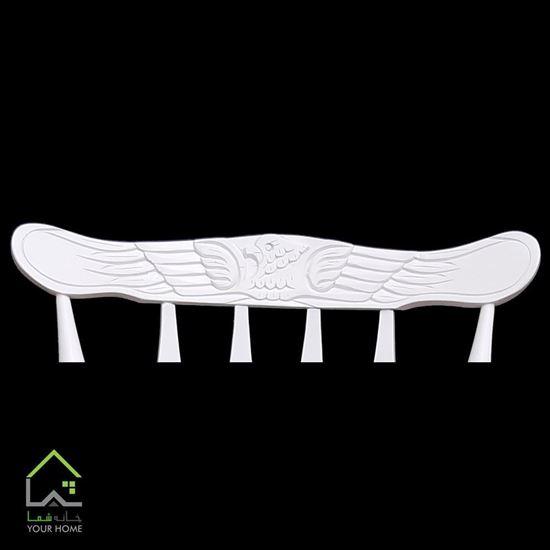 تصویر صندلی راک چوب راش با تاج عقابی