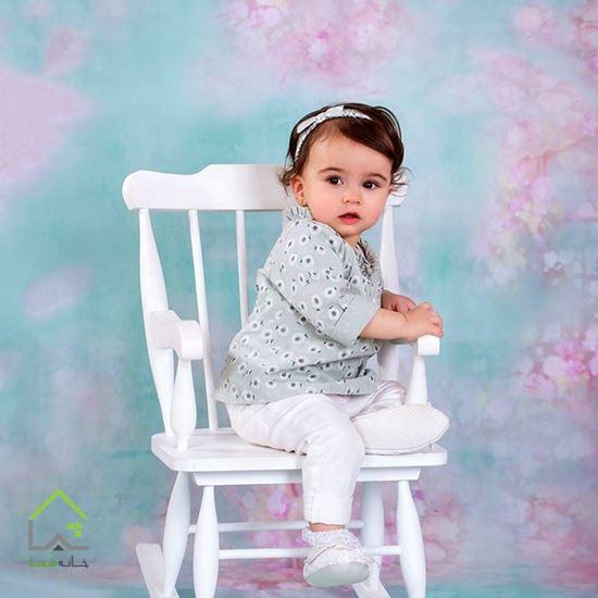 تصویر صندلی راک کودک مدل تاج ساده