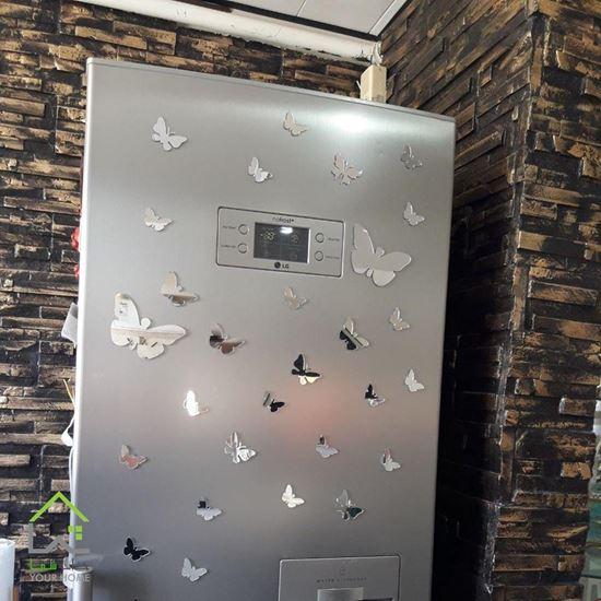 تصویر آینه دکوراتیو طرح باغ پروانه
