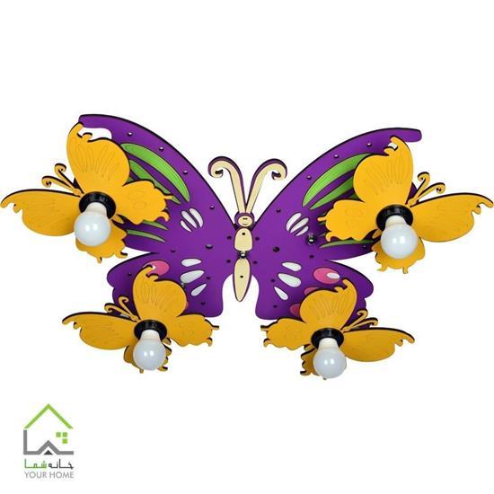 تصویر لوستر اتاق کودک طرح پروانه
