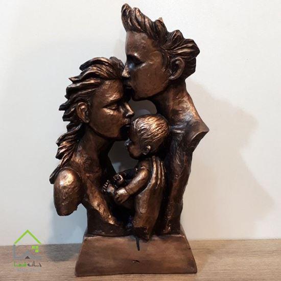 تصویر مجسمه طرح خانواده