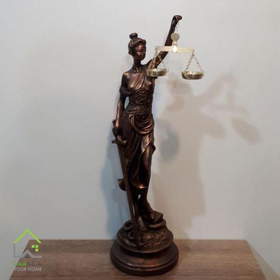 تصویر مجسمه طرح عدالت