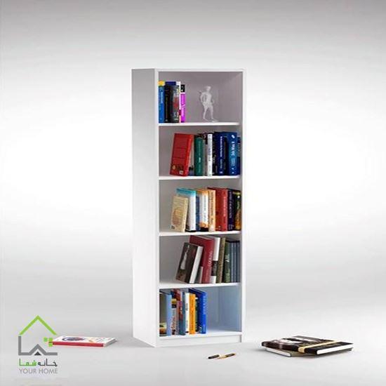 تصویر کتابخانه DND مدل توچال - پنج طبقه - سفید