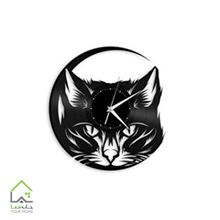 ساعت دیواری طرح گربه مناسب برای حیوان دوستان و پت شاپ ها و دامپزشکی ها