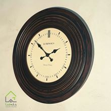 ساعت دیواری تمام چوب قابدار لومینوس