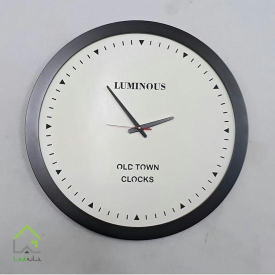 ساعت دیواری لومینوس تمام چوب حلقه ای old town