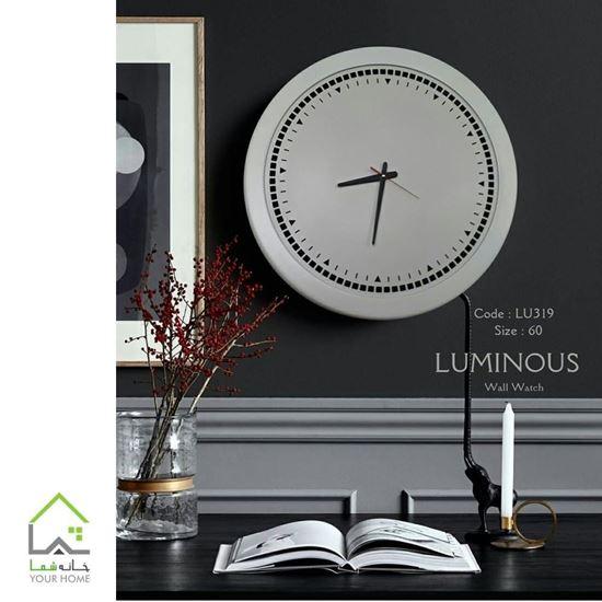 ساعت دیواری لومینوس تمام چوب LU319