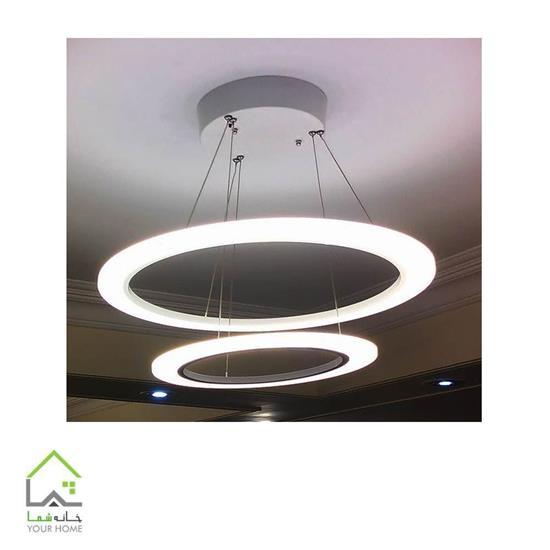 تصویر لوستر اس ام دی رینگی ماد تک طبقه قطر 30