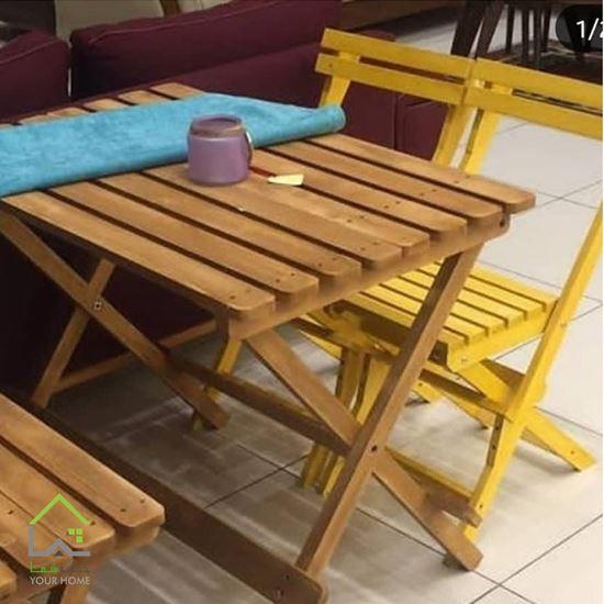 میز ناهار خوری چوبی تاشو