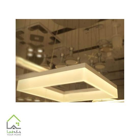 تصویر لوسترسقفی مدرن مربع دو طبقه ماد ابعاد 3050