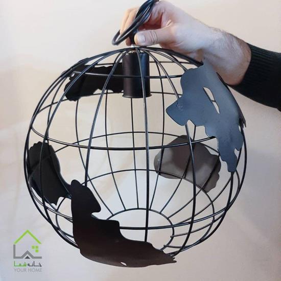 چراغ آویز مدل کره زمین کد 1224