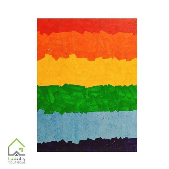 تابلو هنری رنگین کمان 3