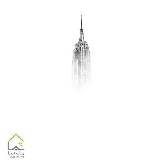 تابلو تخته شاسی برج مه آلود
