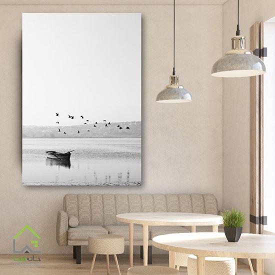 تابلو دیواری پرنده و قایق