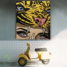 تابلوی دیواری چشمان پلنگ