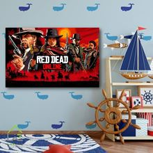 تابلو دیواری کنسول بازی پلی استیشن و ایکس باکس رد دد Red Dead Redemption II