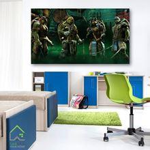 تابلوی دیواری کارتون نینجا ترتلز Ninja Turtles