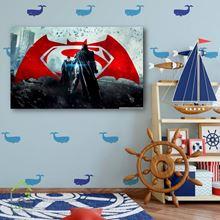 تابلو دیواری بتمن و سوپرمن batman vs superman