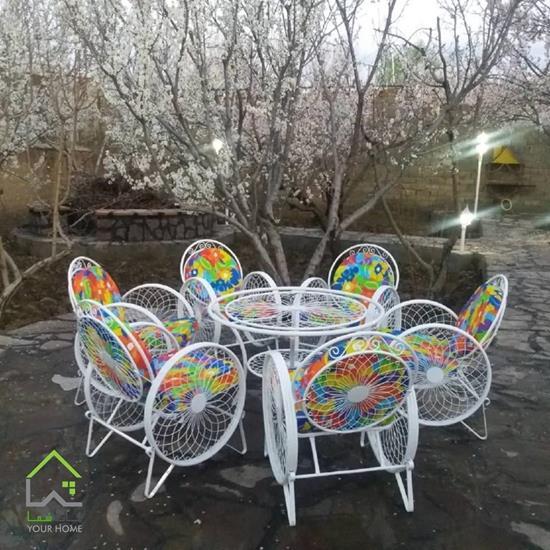 صندلی فلزی باغی مدل گلبرگ