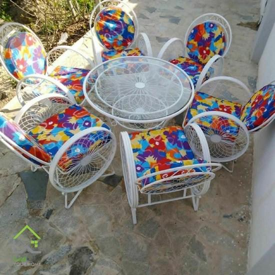 صندلی فلزی باغی