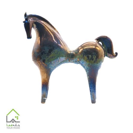مجسمه اسب سرامیکی لاستر