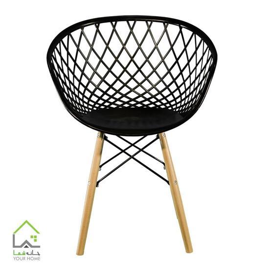 صندلی بامبو پایه چوبی ثابت
