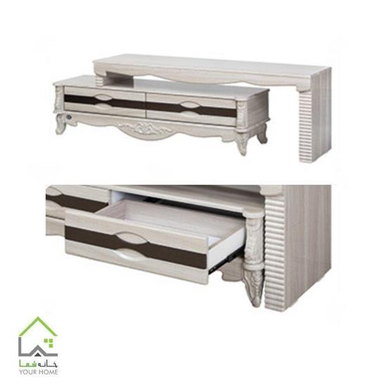 میز تلویزیون چوبی ساده طرح جدید