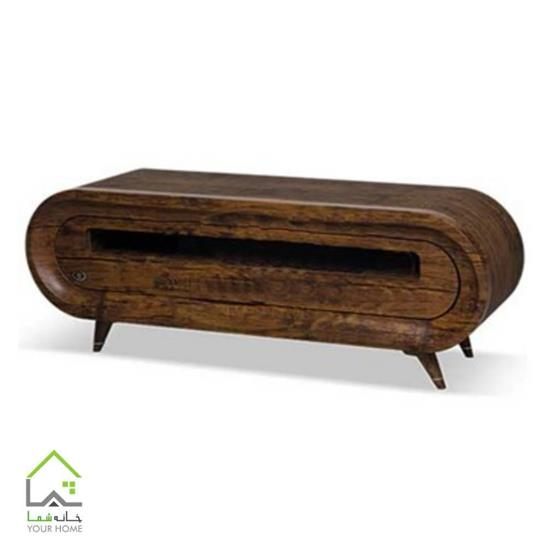 میز تلویزیون چوبی تمام گرد
