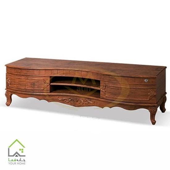 میز تلویزیون چوبی کلاسیک
