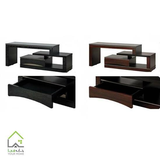 میز تلویزیون ارزان هایگلاس طرح جدید