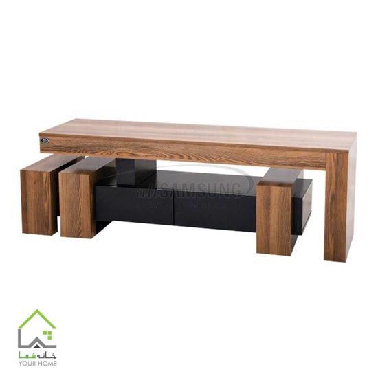 میز تلویزیون چوبی فانتزی