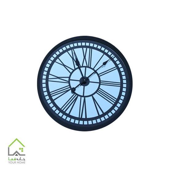 ساعت دیواری لومینوس آینه و چوب