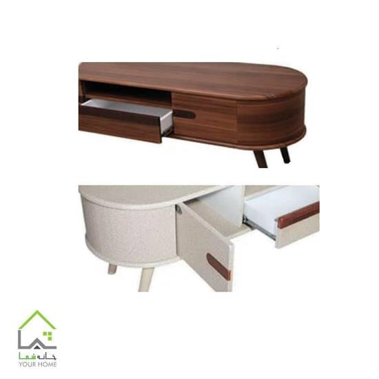 میز تلویزیون چوبی مدل فرانسوی طرح جدید