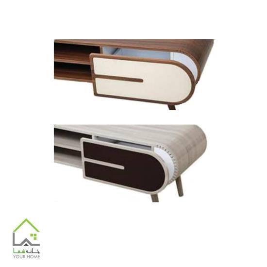 میز تلویزیون چوبی با طراحی مدرن CNC
