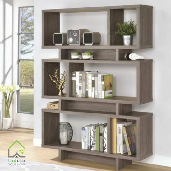 کتابخانه چوبی مدل باکسی