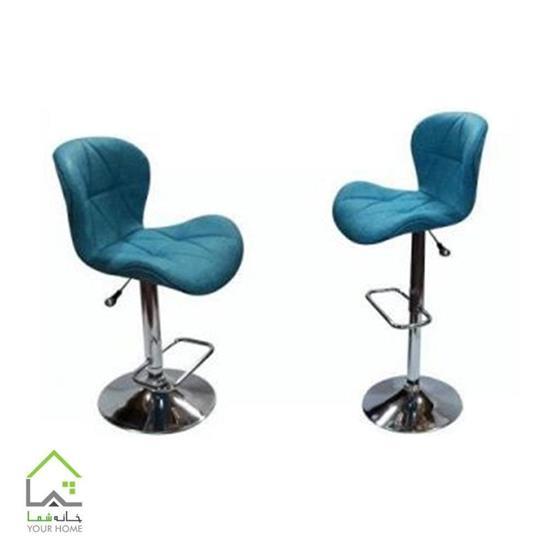 صندلی اپن کانتر نیلی