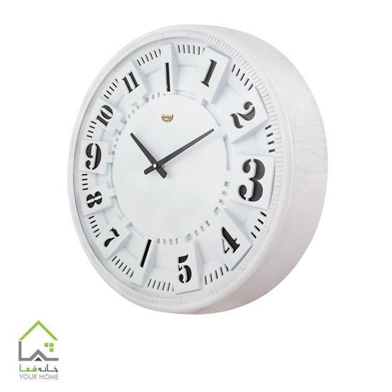ساعت دیواری سفید و مشکی