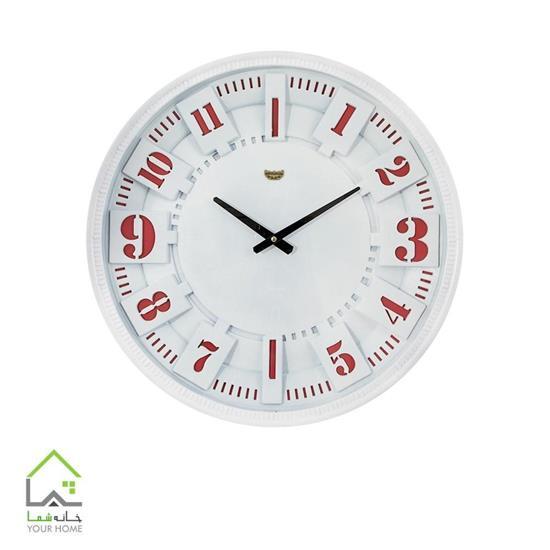 ساعت و دیواری سفید و قرمز