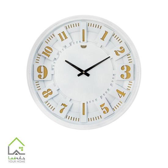 ساعت دیواری سفید و طلایی