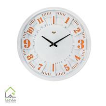 ساعت دیواری سفید و نارنجی