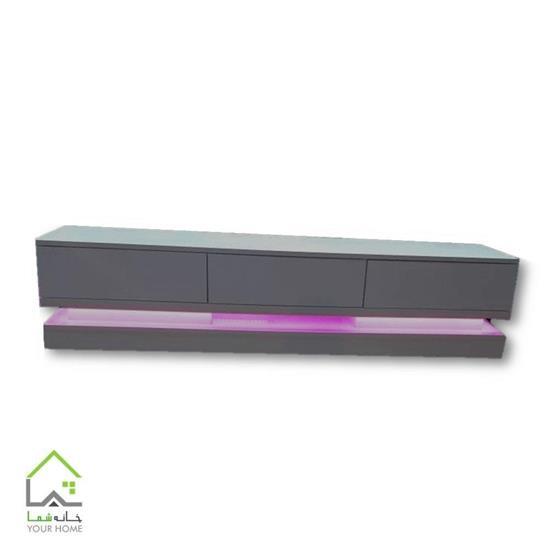 تصویر میز تلویزیون با نور پردازی LED