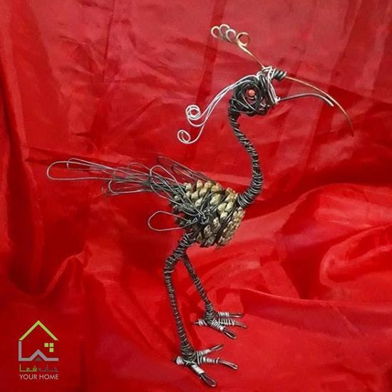 مجسمه مفتولی پرنده