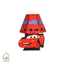 آباژور اتاق کودک مدل مک کویین قرمز