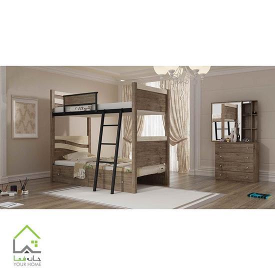 تخت خواب دو طبقه آریا